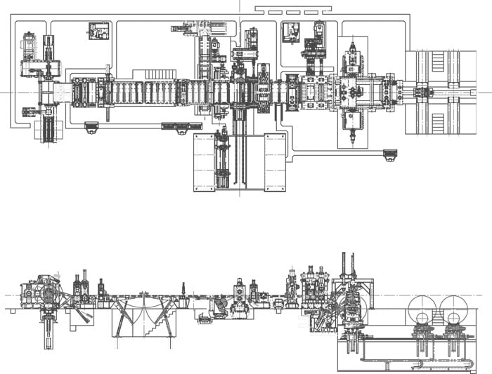 Slitting Line-drawing